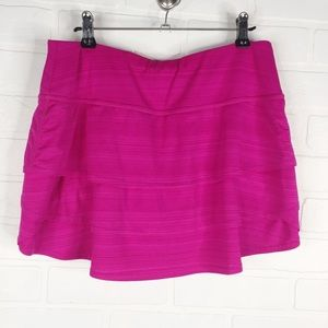 Athleta Swagger Tiered Pink Skort Small Athletic